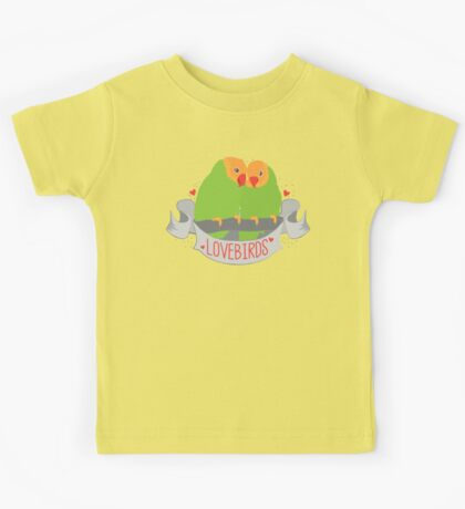 LOVE BIRDS banner Kids Tee