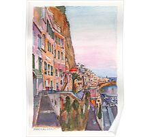 The vertical Amalfi at Sunset Poster
