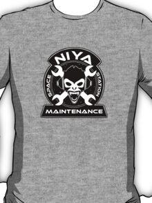 Niya Space Station Maintenance Black T-Shirt