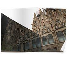 Reflecting on Sagrada Familia, Antoni Gaudi's Masterpiece Poster