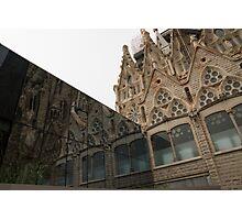 Reflecting on Sagrada Familia, Antoni Gaudi's Masterpiece Photographic Print