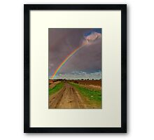 """""""The Rainbow and The Roadway"""" Framed Print"""