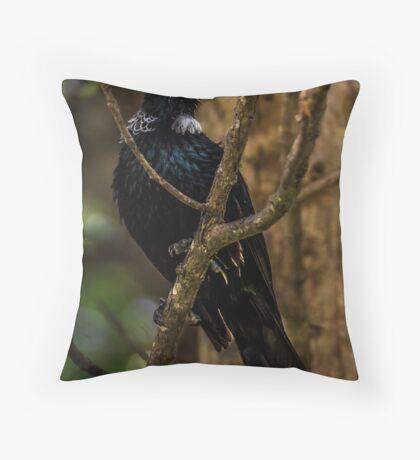 Tui  NZ native Throw Pillow