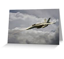 F18 Sting Greeting Card