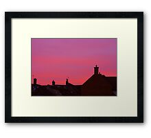 Rooftop Sunset Framed Print