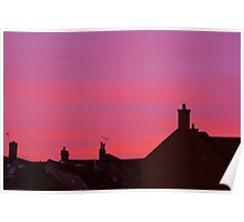 Rooftop Sunset Poster
