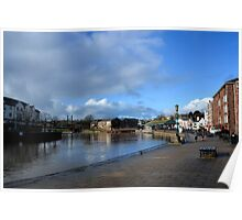 Exeter Quays January 2014 , Devon UK Poster