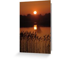 sunset on the river Shannon Greeting Card
