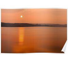 Sunset Derwent Reservoir Poster