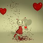 The Captured Heart - Whimsical Valentine's Day Art by Liam Liberty