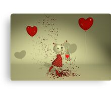 The Captured Heart - Whimsical Valentine's Day Art Canvas Print
