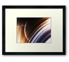 Ringed Planet (Botswana Agate) Framed Print