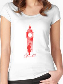 Jack the Ripper - London Big Ben Design Women's Fitted Scoop T-Shirt