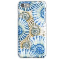 Watercolor abstract pattern, shell, blue pattern iPhone Case/Skin