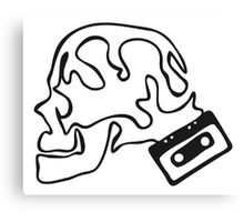 Skull Tape Canvas Print