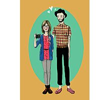 Hipster Valentine Photographic Print