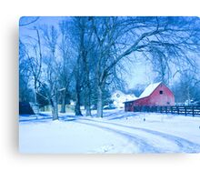 MY FAVORITE BARN IN THE SNOW Canvas Print