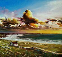 Irish coastline by Roman Burgan