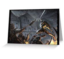 """Swords Storm"" Artwork by CHARRO Greeting Card"