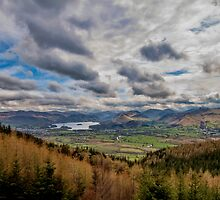 Overlooking Derwentwater by Roger Green