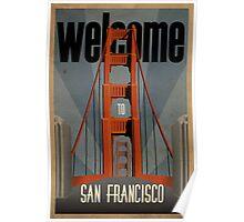 San Francisco vintage poster Poster