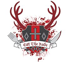 Eat The Rude - Coat of Arms Photographic Print