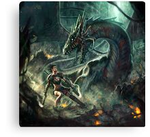 Face a Dragon by Charro Canvas Print
