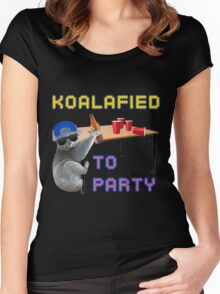 Koalafied to Party Women's Fitted Scoop T-Shirt