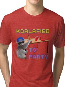 Koalafied to Party Tri-blend T-Shirt