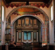 Mission San Luis Rey de Francia during renovations by Robert W.  Feuerstein