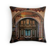 Mission San Luis Rey de Francia during renovations Throw Pillow