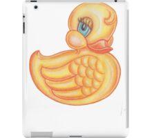 Vintage  / retro look cute little rubber ducky iPad Case/Skin