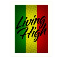 Living High Typography (Dark) Art Print