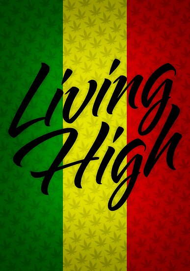 Living High Typography (Dark) by TheMagicLamp