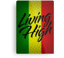 Living High Typography (Dark) Metal Print