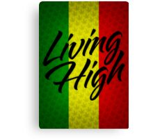 Living High Typography (Dark) Canvas Print