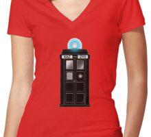 Supernatural Tardis Women's Fitted V-Neck T-Shirt