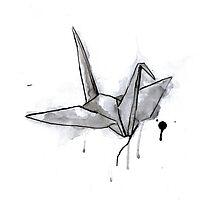 Black Crane Photographic Print
