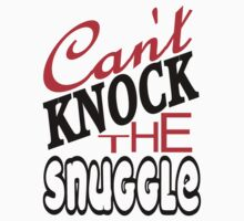 Can't Knock the Snuggle Black Kids Tee