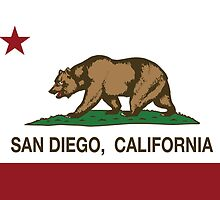 San Diego California Republic Flag by NorCal