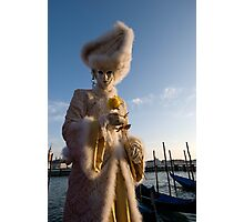 Carnival of Venice: Yellow rose charmer Photographic Print