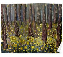 Golden Buttercup Woods Poster