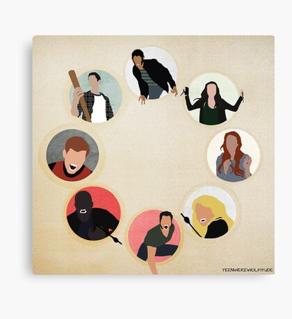 Teen Wolf Pack Graphic Canvas Print
