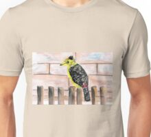Crested Barbet / Kuifkophoutkapper Unisex T-Shirt