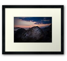 Sunset on the Adriatic Sea Framed Print