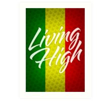 Living High Typography (Light) Art Print