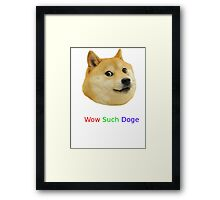 Wow Such Dog Image! Framed Print