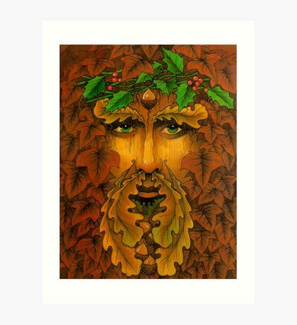 Yule King Art Print