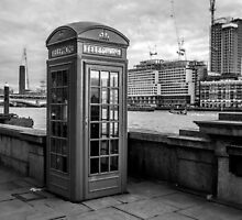 Black And White telephone Box by Patrycja Polechonska