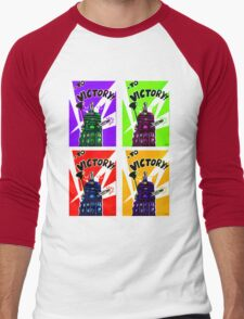 To Victory Dr. Who  Men's Baseball ¾ T-Shirt